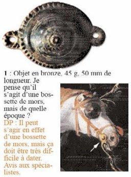 Bronzen beslagstuk paard-zie pijl-